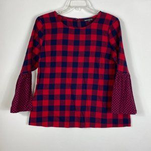 J.Crew Flannel checkered blouse.